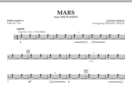 """Mars (from """"The Planets"""") - Percussion 2 (Concert Band: Flex-Band)"""