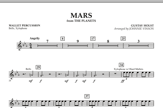 """Mars (from """"The Planets"""") - Mallet Percussion (Concert Band)"""