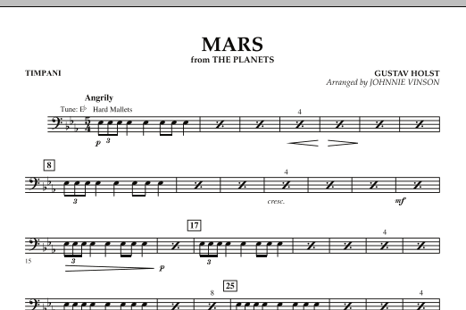 """Mars (from """"The Planets"""") - Timpani (Concert Band: Flex-Band)"""
