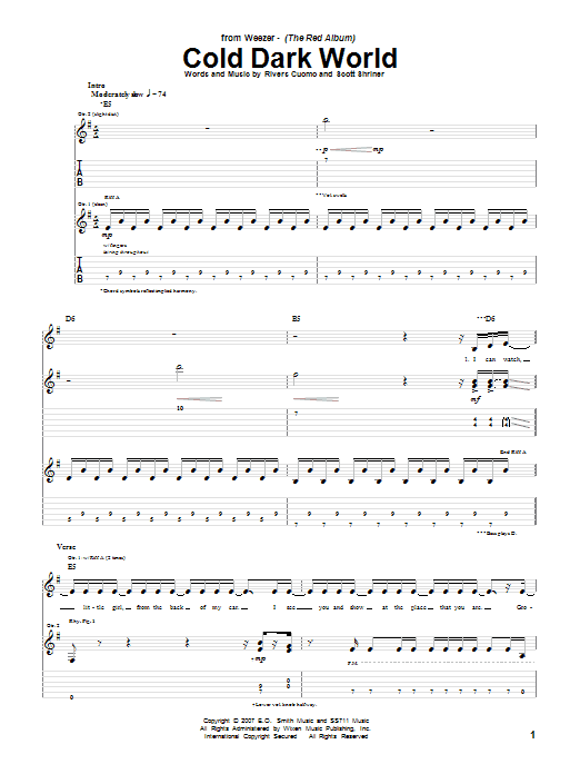 Cold Dark World Sheet Music