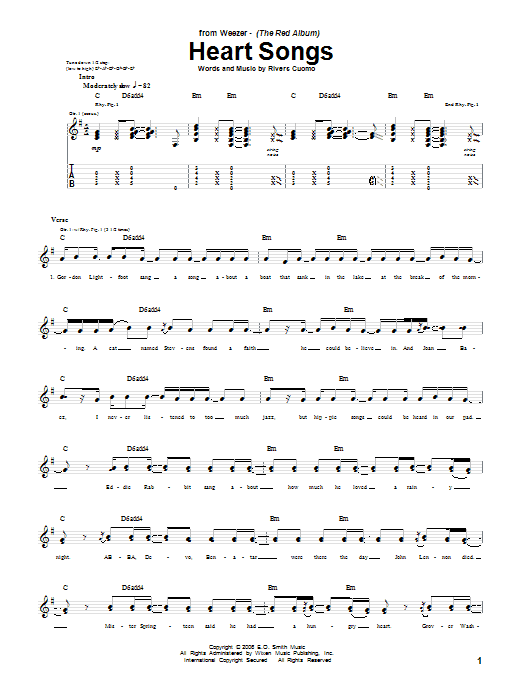 Heart Songs Sheet Music