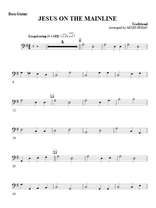 Jesus On The Mainline - Bass Guitar Sheet Music