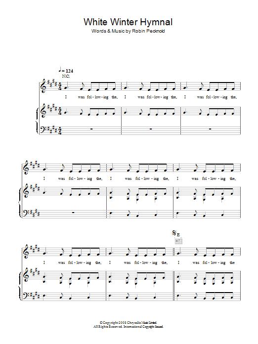 White Winter Hymnal Sheet Music Direct