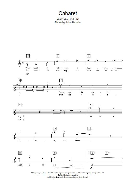 Cabaret (Piano Chords/Lyrics)