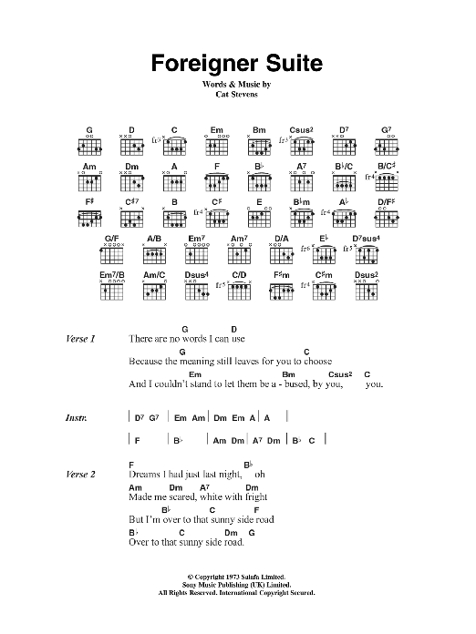 Foreigner Suite Sheet Music