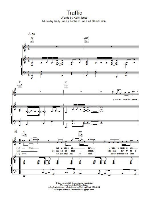 Traffic (Piano, Vocal & Guitar)