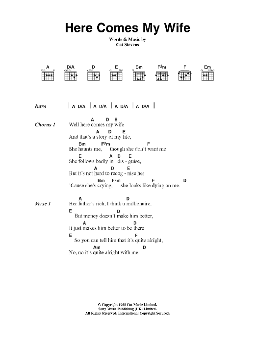 Here Comes My Wife Sheet Music