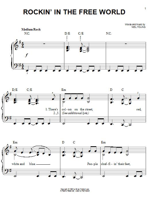 Rockin' In The Free World (Easy Piano)