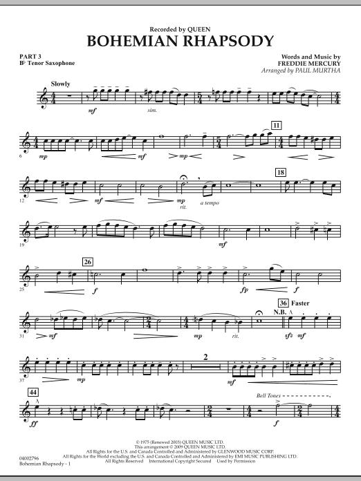 Bohemian Rhapsody - Pt.3 - Bb Tenor Saxophone (Flex-Band)