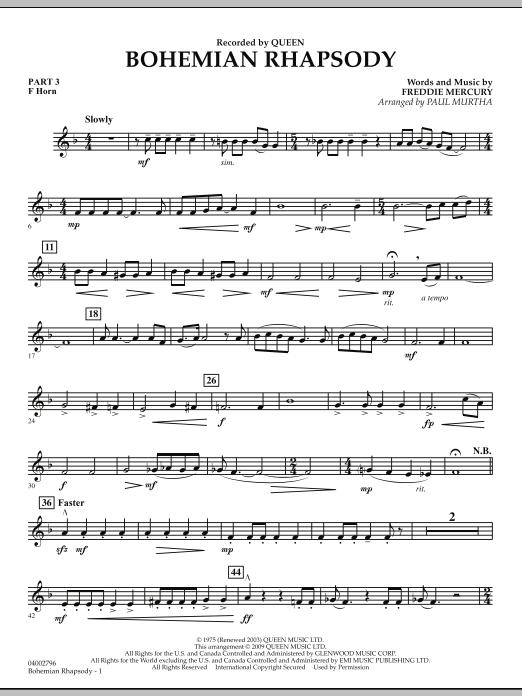 Bohemian Rhapsody - Pt.3 - F Horn (Concert Band)