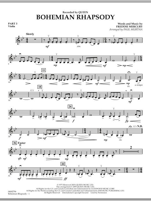 Bohemian Rhapsody - Pt.3 - Violin (Flex-Band)