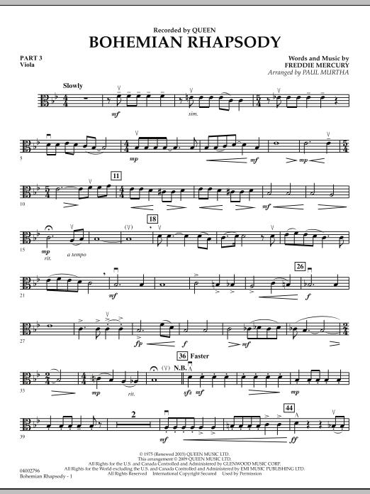 Bohemian Rhapsody - Pt.3 - Viola (Flex-Band)