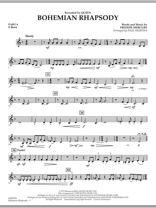 Bohemian Rhapsody - Pt.4 - F Horn (Flex-Band)