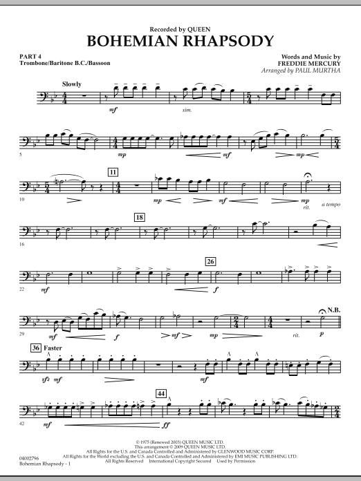 Bohemian Rhapsody - Pt.4 - Trombone/Bar. B.C./Bsn. (Flex-Band)