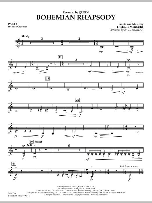 Bohemian Rhapsody - Pt.5 - Bb Bass Clarinet (Concert Band)