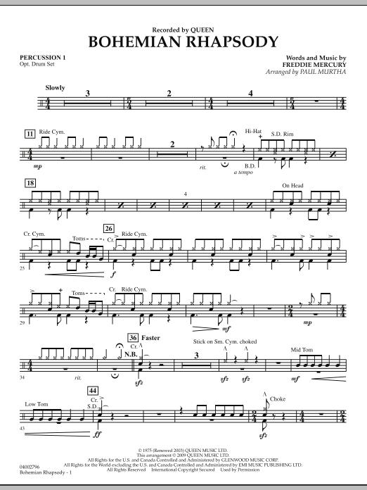 Bohemian Rhapsody - Percussion 1 (Concert Band)