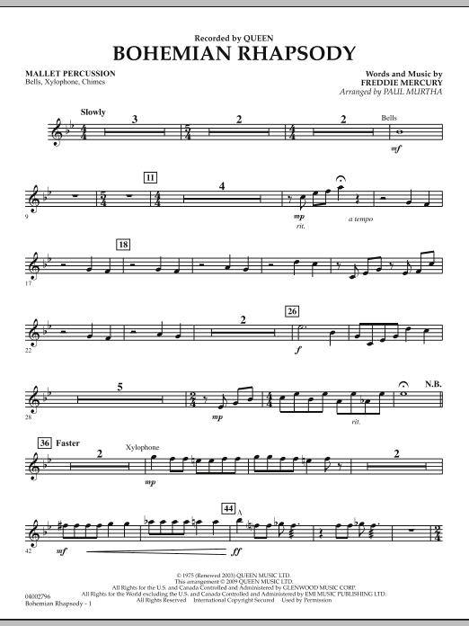 Bohemian Rhapsody - Mallet Percussion (Flex-Band)