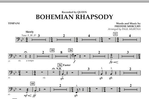 Bohemian Rhapsody - Timpani (Concert Band)