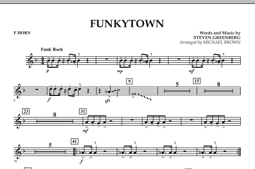 Funkytown - F Horn (Concert Band)