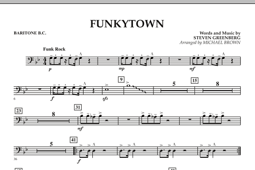 Funkytown - Baritone B.C. (Concert Band)