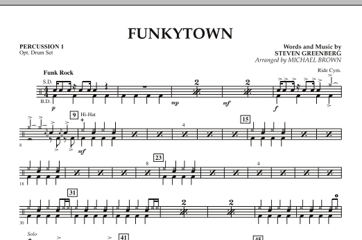 Funkytown - Percussion 1 (Concert Band)