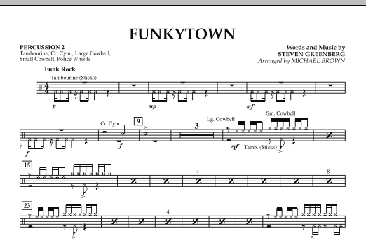 Funkytown - Percussion 2 (Concert Band)