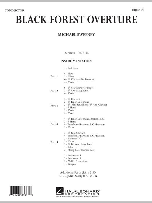 Black Forest Overture - Conductor Score (Full Score) (Concert Band: Flex-Band)
