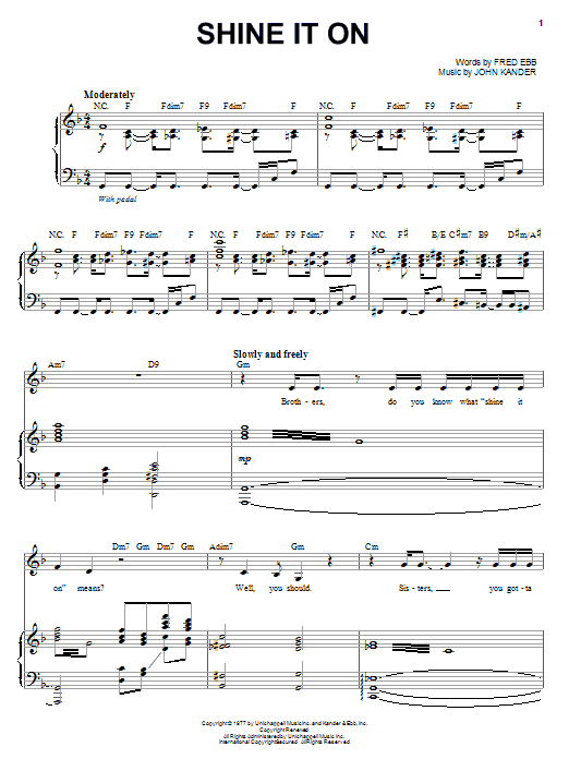 Shine It On (Piano & Vocal)