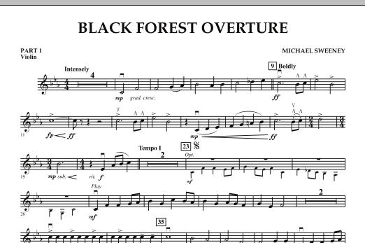Black Forest Overture - Pt.1 - Violin (Concert Band: Flex-Band)