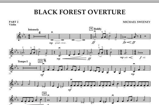 Black Forest Overture - Pt.2 - Violin (Concert Band)