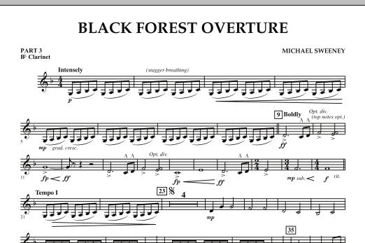 Black Forest Overture - Pt.3 - Bb Clarinet (Concert Band: Flex-Band)