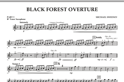 Black Forest Overture - Pt.3 - Bb Tenor Saxophone (Concert Band)