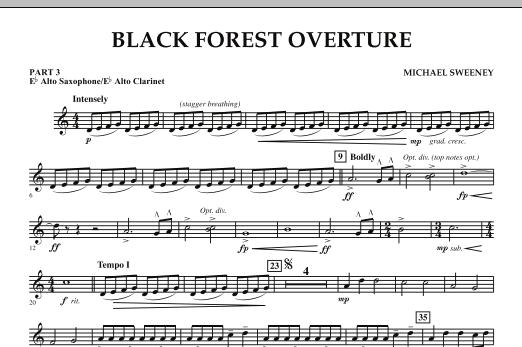 Black Forest Overture - Pt.3 - Eb Alto Sax/Alto Clar. (Concert Band: Flex-Band)