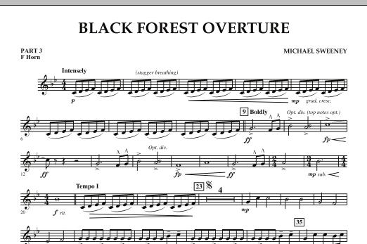 Black Forest Overture - Pt.3 - F Horn (Concert Band: Flex-Band)