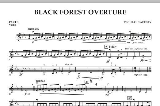 Black Forest Overture - Pt.3 - Violin (Concert Band)