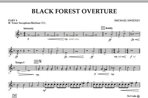 Black Forest Overture - Pt.4 - Bb Tenor Sax/Bar. T.C. (Concert Band: Flex-Band)