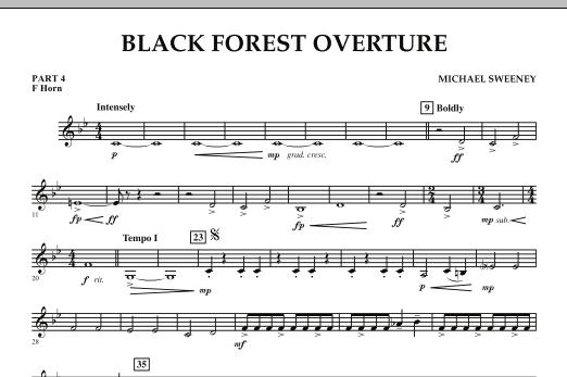 Black Forest Overture - Pt.4 - F Horn (Concert Band)