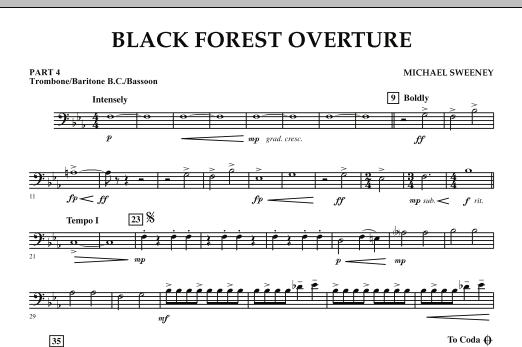 Black Forest Overture - Pt.4 - Trombone/Bar. B.C./Bsn. (Concert Band: Flex-Band)