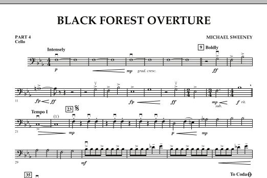 Black Forest Overture - Pt.4 - Cello (Concert Band: Flex-Band)