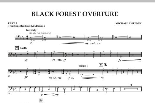 Black Forest Overture - Pt.5 - Trombone/Bar. B.C./Bsn. (Concert Band)