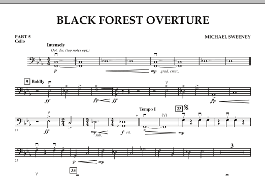 Black Forest Overture - Pt.5 - Cello (Concert Band: Flex-Band)