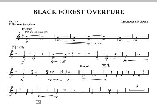 Black Forest Overture - Pt.5 - Eb Baritone Saxophone (Concert Band: Flex-Band)
