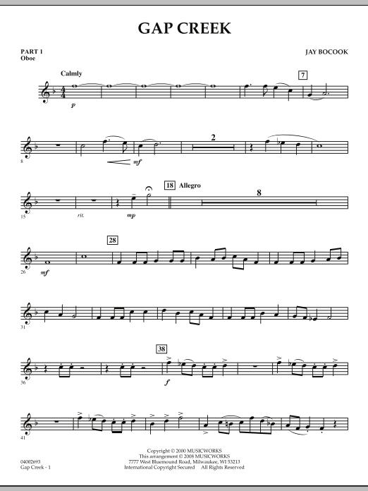 Gap Creek - Pt.1 - Oboe (Concert Band: Flex-Band)