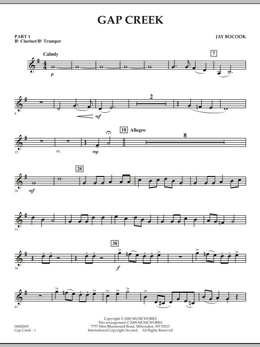 Gap Creek - Pt.1 - Bb Clarinet/Bb Trumpet (Concert Band: Flex-Band)