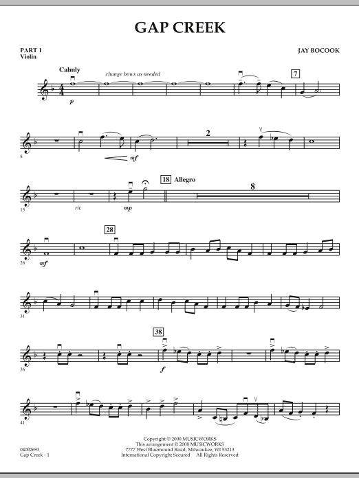 Gap Creek - Pt.1 - Violin (Concert Band: Flex-Band)