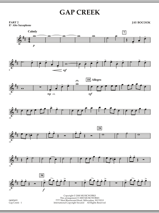 Gap Creek - Pt.2 - Eb Alto Saxophone (Concert Band: Flex-Band)