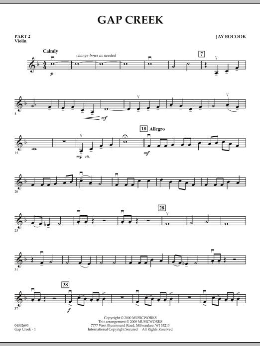 Gap Creek - Pt.2 - Violin (Concert Band: Flex-Band)