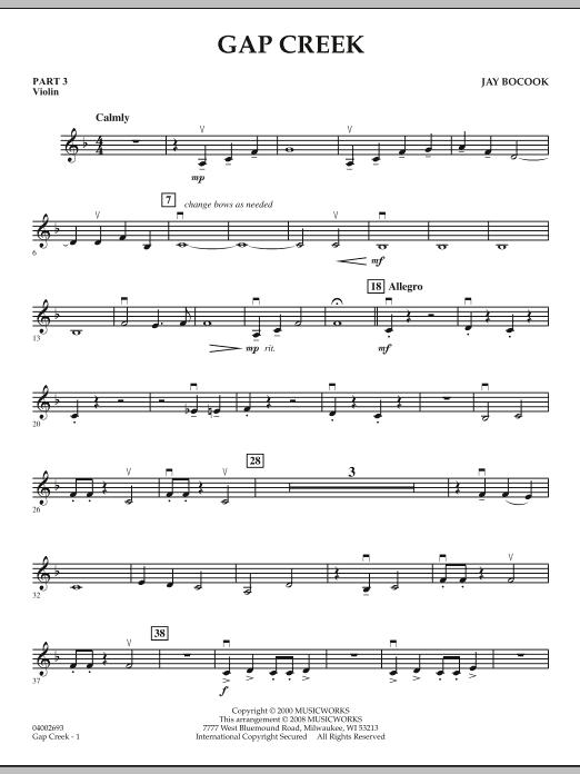 Gap Creek - Pt.3 - Violin (Concert Band: Flex-Band)