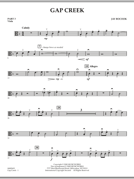 Gap Creek - Pt.3 - Viola (Concert Band: Flex-Band)