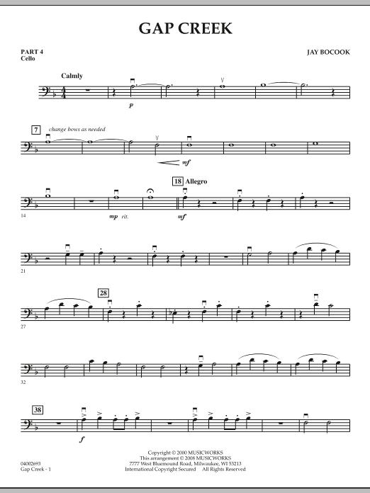 Gap Creek - Pt.4 - Cello (Concert Band: Flex-Band)